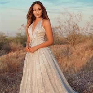 Glitter Gown Silver